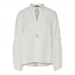 Top blouse à nouer Only écru