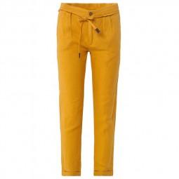 Pantalon Salsa fluide en lin jaune
