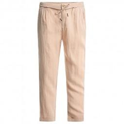 Pantalon Salsa fluide en lin beige