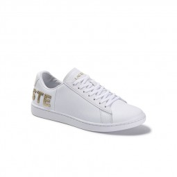Chaussures Lacoste Carnaby blanc or