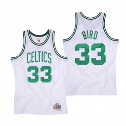 Larry Bird 1985-86 Boston Celtics 33 blanc vert