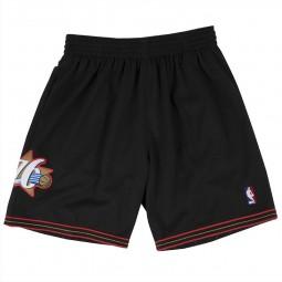 Short Mitchell & Ness NBA Sixers Philadelphia noir