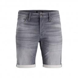 Short en jean Jack & Jones Rick Icon gris délavé