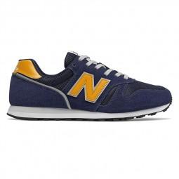Chaussures New Balance 373 bleu marine jaune