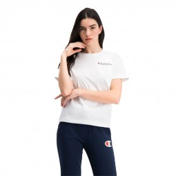 T-shirt Champion petit logo vintage blanc