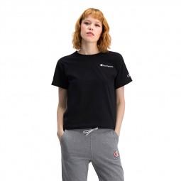 T-shirt Champion petit logo vintage noir