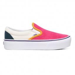 Chaussures Vans Slip-On blanc rose