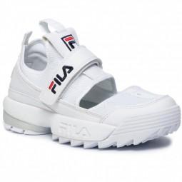 Demli sandales Fila Disruptor blanches