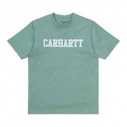 T-shirt Carhartt WIP College vert d'eau