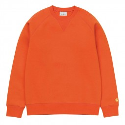 Sweat col rond Carhartt Chase orange