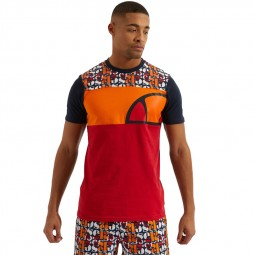T-Shirt Ellesse Cirillo orange bleu marine