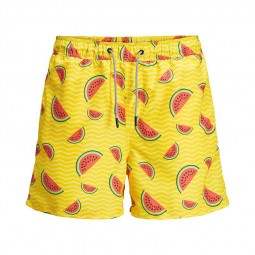 Short de bain Jack & Jones Aruba jaune pastèques