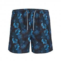 Short de bain Jack & Jones Aruba noir imprimé floral