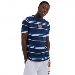 T-Shirt Ellesse Miniati rayé bleu marine