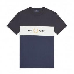 T-Shirt Fred Perry M8530 bleu, noir, blanc