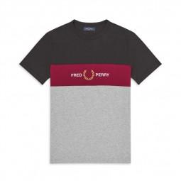 T-Shirt Fred Perry M8530 gris noir bordeaux