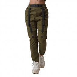 Pantalon treillis femme Project X Paris kaki