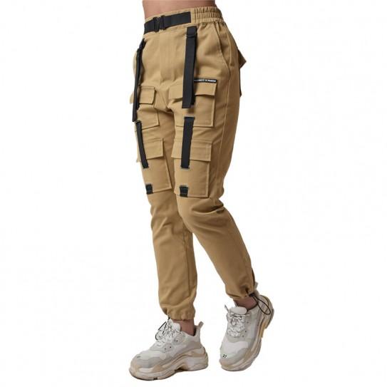 Pantalon cargo treillis beige femme Project