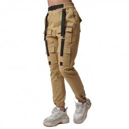 Pantalon treillis femme Project X Paris beige