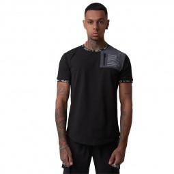 T-shirt Project X Paris noir empiècement réfléchissant