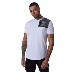 T-shirt Project X Paris blanc empiècement réfléchissant