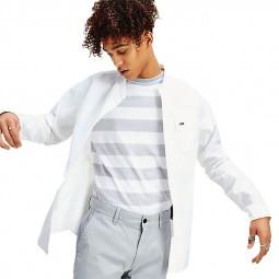 Chemisette Tommy Jeans à col mao blanc