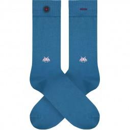 Chaussettes A-dam Socks - Julien bleu space invader