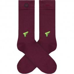 Chaussettes A-dam Socks - Appie bordeaux pistolet à eau
