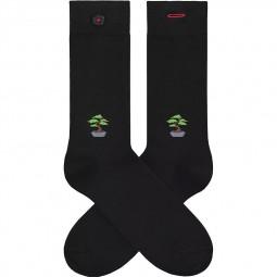 Chaussettes A-dam Socks - Daniel noires bonsaï