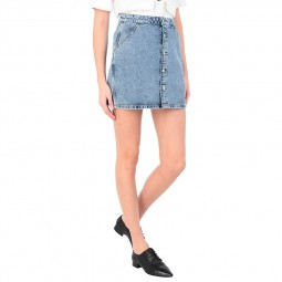 Jupe en jean Calvin Klein bleu clair délavé