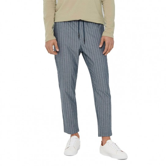 Pantalon rayé Only & Sons Linus Crop