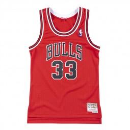 Chicago Bulls Scottie Pippen femme rouge