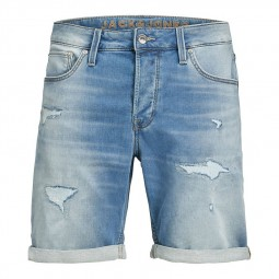 Short en jean Jack & Jones Rick Icon bleu clair délavé