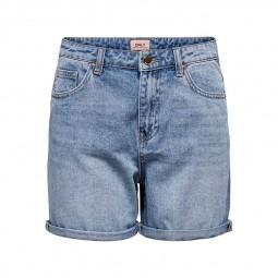 Short en jean Only bleu délavé