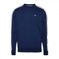 Sweat col rond Tommy Jeans bleu marine bande logos