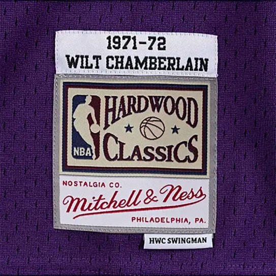 Los Angeles Lakers 1971-72 Wilt Chamberlain 13 WCM