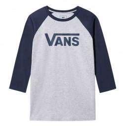 T-shirt manches raglan 3/4 Vans bleu gris