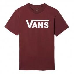 T-Shirt Manches Courtes Vans bordeaux
