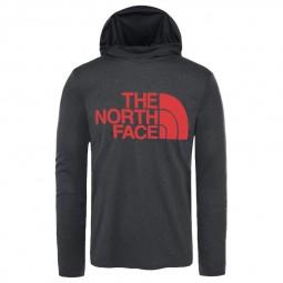 T-shirt manches longues & capuche The North Face gris foncé
