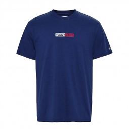 T-shirt Tommy Jeans Box Logo bleu marine
