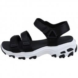 Chaussures sandales Skechers femme D'Lites noires