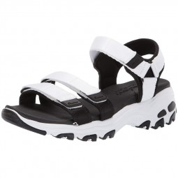 Chaussures sandales Skechers femme D'Lites blanches