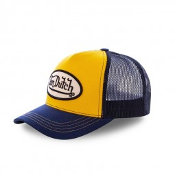 Casquette baseball Von Dutch Colors jaune bleu marine
