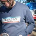 Sweat col rond Jack & Jones x La Boulisterie bleu marine