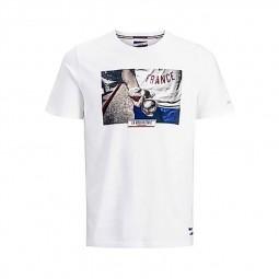 T-shirt Jack & Jones x La Boulisterie blanc pétanque
