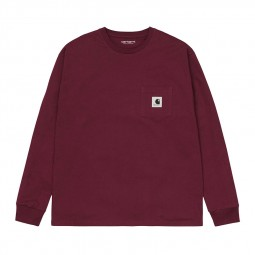 T-shirt Carhartt femme Pocket bordeaux