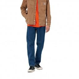 Pantalon Carhartt WIP Newel Pant bleu stone