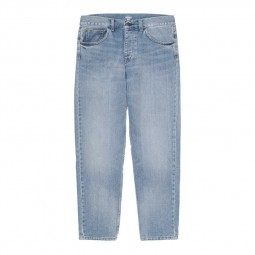 Pantalon Carhartt WIP Newel Pant bleu clair délavé