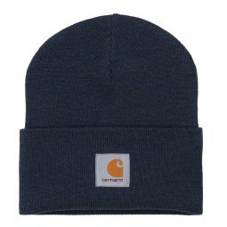 Bonnet Carhartt Acryclic Watch Hat bleu marine chiné