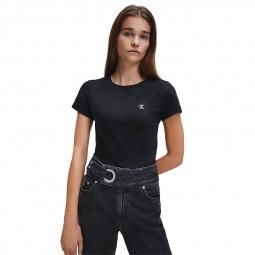 T-Shirt uni Calvin Klein noir